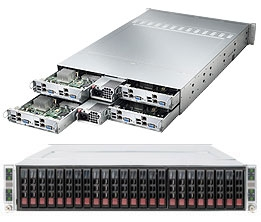 Supermicro 2U Twin3 SuperServer with 8 Atom D525 Dual-core processors